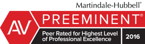 Martindale-Hubbell - Preeminent. Peer rated for highest level of professional excellence. 2016